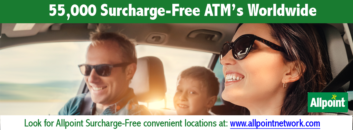 Allpoint. 55,000 Surcharge-Free ATMs Worldwide