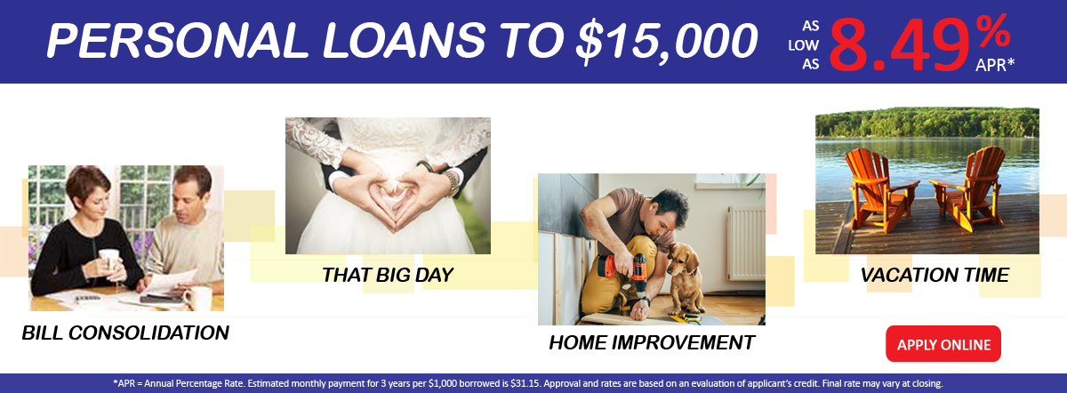 Personal Loans up to $15,000