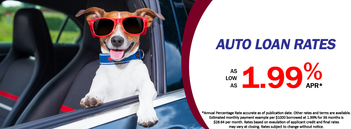 Auto Loan Rates as low as 1.99% APR*