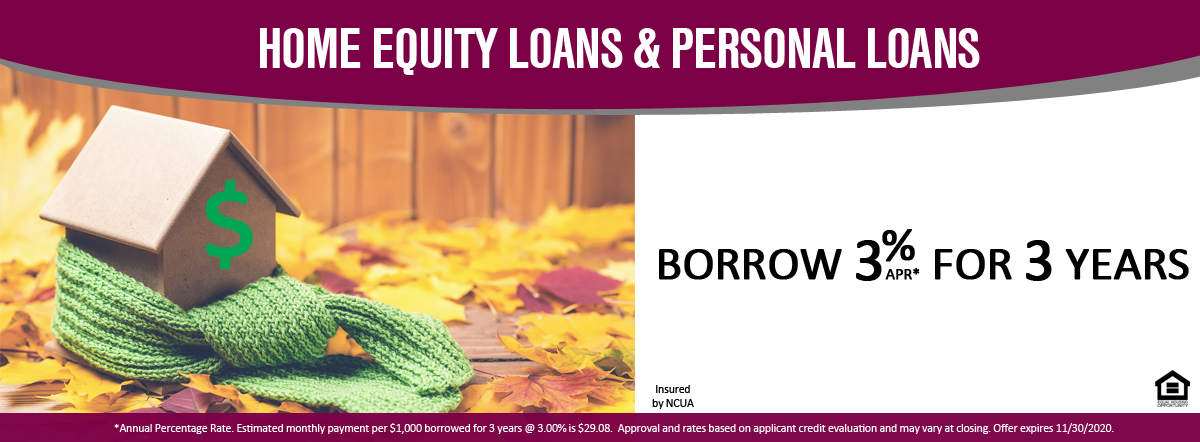 Home Equity Loans & Personal Loans Borrow 3% APR* for 3 years